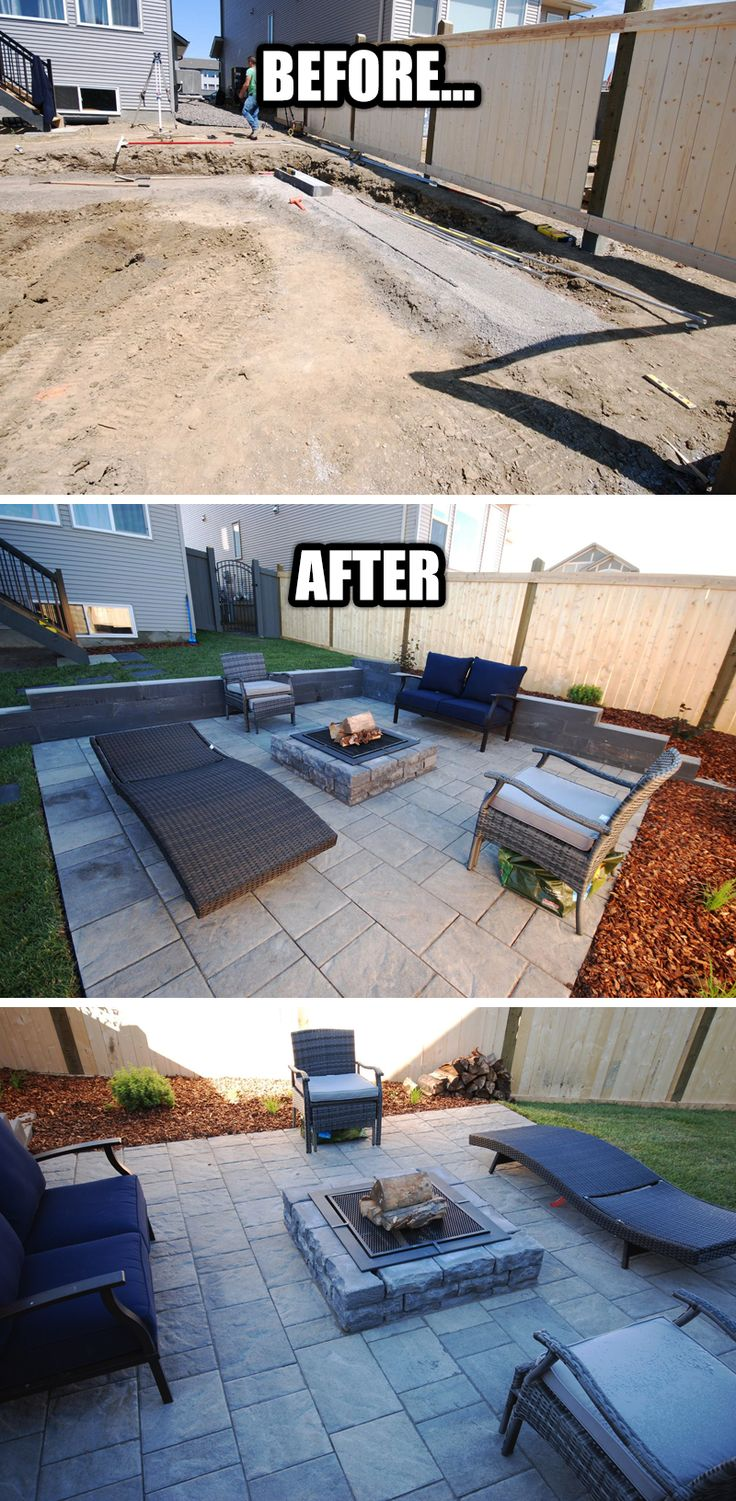 "Our HawksRidge #Landscaping project turned out real nice! As soon as the capstones for the Architectures Segmental #RetainingWall arrive we will ""put the icing on the cake"". Our clients have already started to enjoy their new #OutdoorSpace. They had the #Firepit going before we were done! Get an estimate for your outdoor space too! (just click the image)"