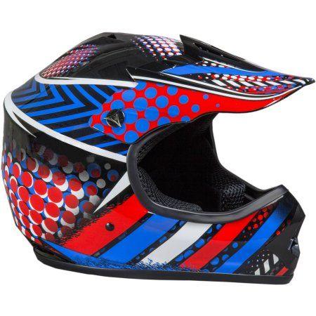 Junior Off Road Helmet, Large, Blue