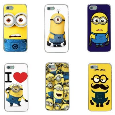 new styles 58b0c 63395 9 Funny Face Minions Phone Case For iPhone 5 6 7 S SE Plus in 2019 ...