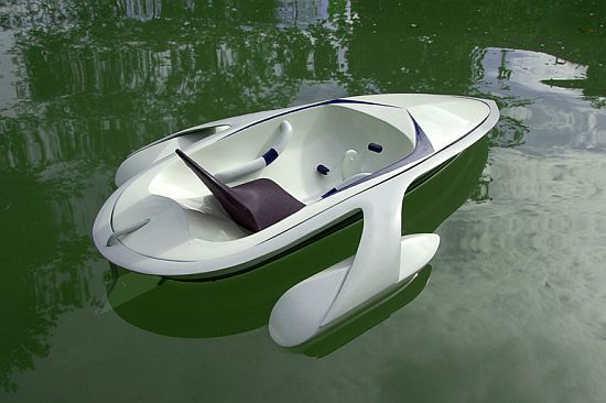 Eco Boats Paddleboat With An Onboard Battery For High