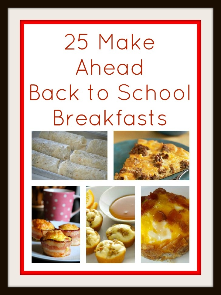 25 Make Ahead Back to School Breakfast Ideas: Good Ideas, Quick Breakfast Ideas, Ideas Michelle, Lunch Ideas, Ideas Wil, Recipe Ideas, Second Chance, Great Ideas, Back To School
