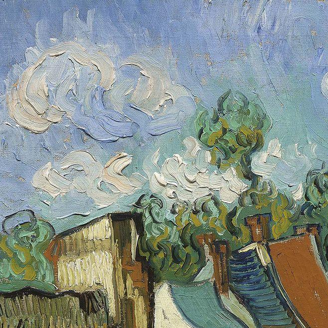Houses at Auvers (detail) by Vincent van Gogh   Lone Quixote   #VincentvanGogh…