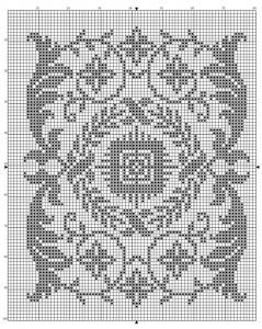 Rectangle 02   Free chart for cross-stitch, filet crochet   Chart for pattern - Gráfico
