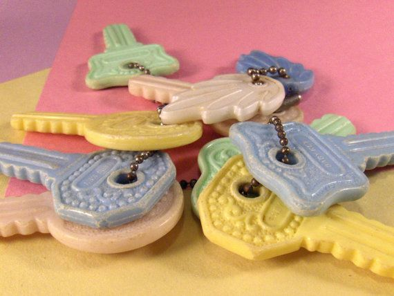 Yes!!  Vintage baby keys rattle teether toy.
