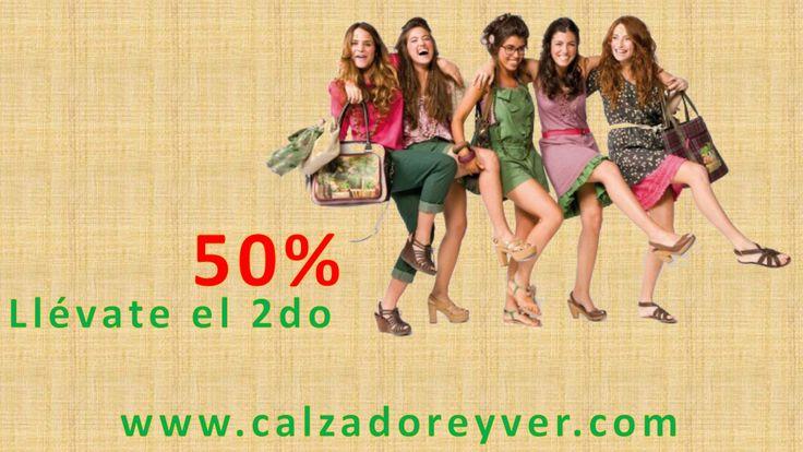 Promoción 50% en  el Segundo Par www.calzadoreyver.com