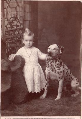 Adorable! Dalmatian and toddler......