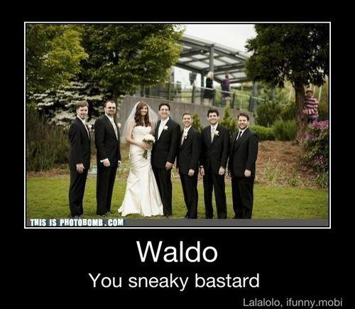 Waldo: Photobomb, Photos Bombs, Wedding Pics, Waldo, Dresses Up, Friends Wedding, Funny Photos, Funny Wedding Photos, Wedding Pictures