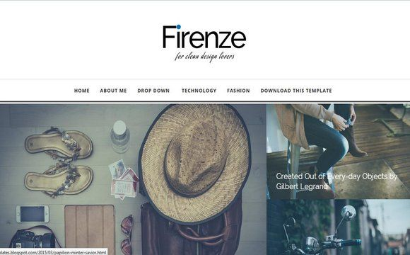 Firenze Blogger Template | High Quality Free Blogger Templates