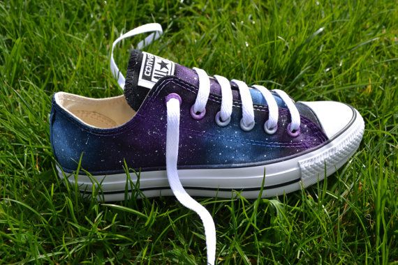 Hey, I found this really awesome Etsy listing at https://www.etsy.com/listing/186098398/galaxy-converse-hand-painted