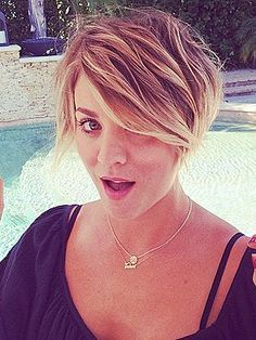 Kaley Cuoco cuts hair, Kaley Cuoco haircut, Kaley Cuoco short hair – Style News - StyleWatch - http://People.com