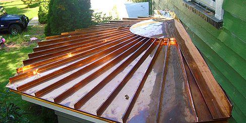 Best Copper Metallic Metal Roof Copper Roof Pergola With Roof Roofing Diy 640 x 480