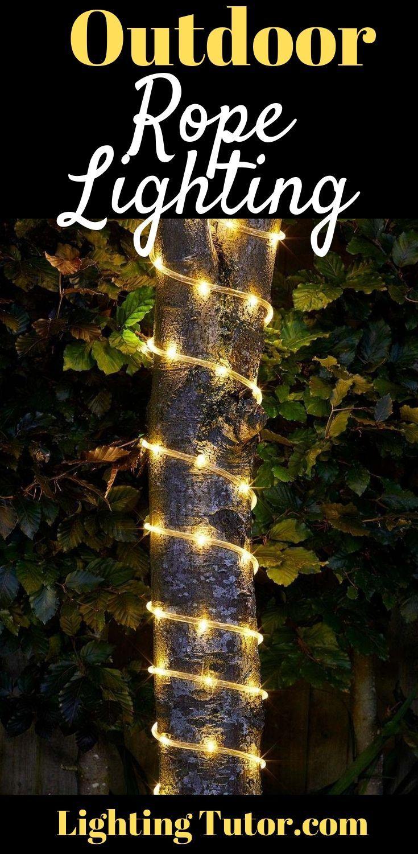 Outdoor Rope Lighting Ideas Rope Light Outdoor Rope Lights Led Rope Lights