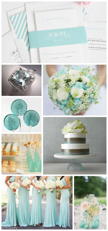 Aquamarine Wedding Inspiration - Turquoise Wedding Invitations