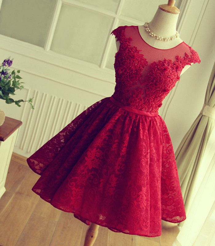 25  best ideas about Red lace prom dress on Pinterest | Red dress ...