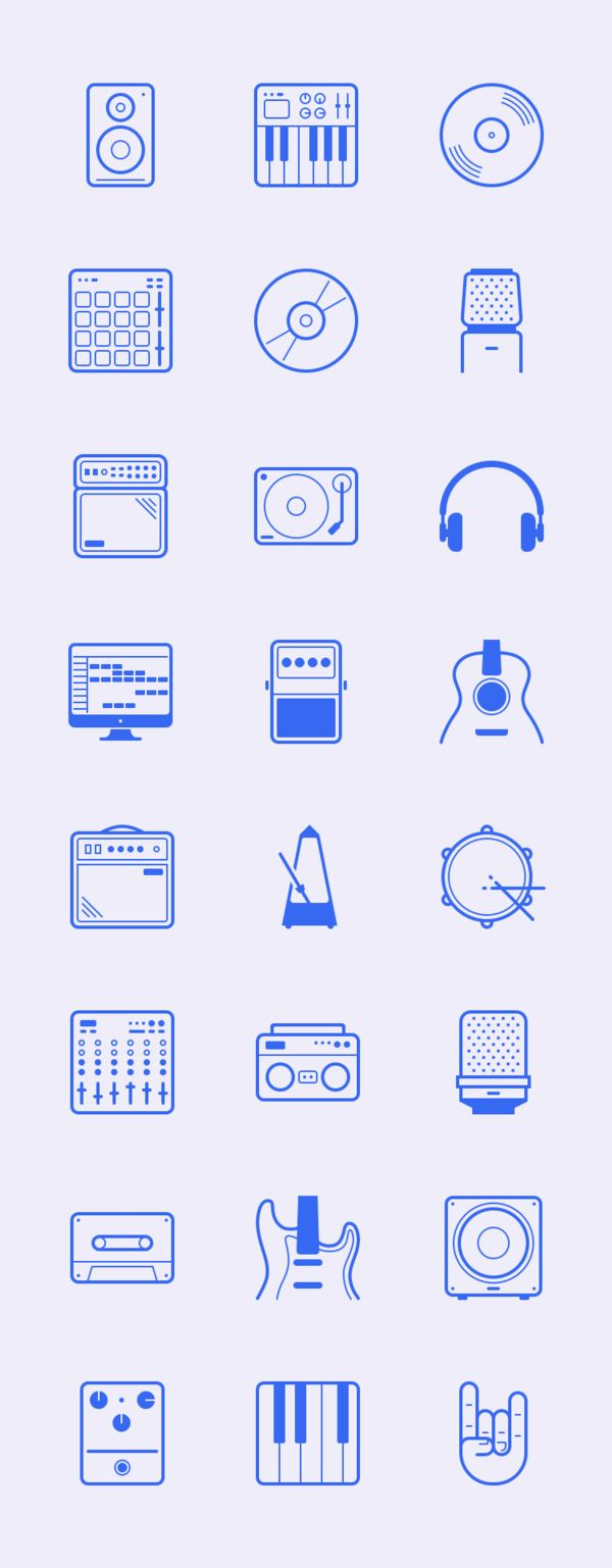 The resource of the day is a neat collection of 24 free vector icons inspired by studio gear and music...