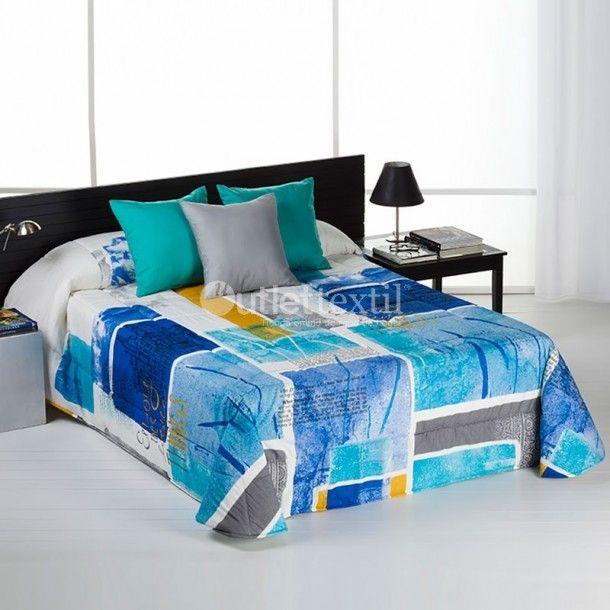 Edredón IMMAGINI Barbadella Home. Si buscas algo moderno y diferente, este nuevo diseño de la firma Barbadella Home te va a encantar. Disponible en azul o en fucsia y perfectamene combinable con multitud de estilos de decoración.