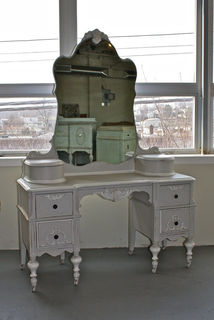 1940's Dressing Table. $550.00, via Etsy.  I would give anything in this work for a dressing table!
