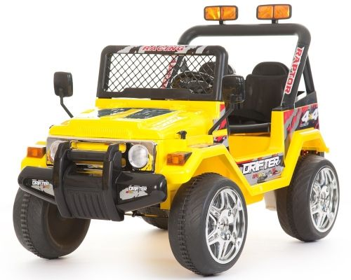 raptor kids jeep 2 seater 12v yellow