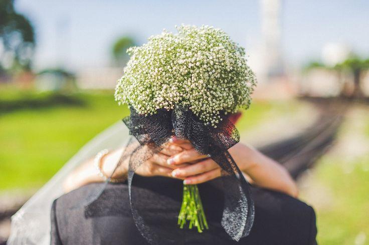 Baby breath flower bouquet <3