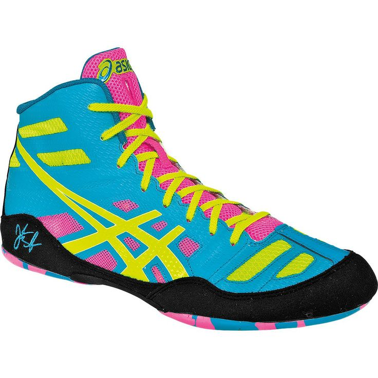 Asics+Wrestling+Shoes | Asics JB Elite Jordan Burroughs Wrestling Shoes - Teal/Flash Yellow ...