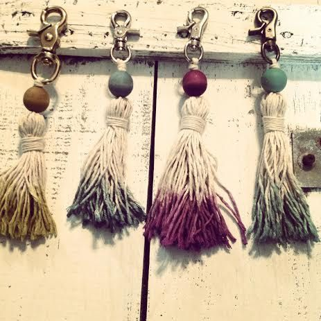 Funky Tassel Key Chains by Rich Hippie Design on Etsy, $28.00