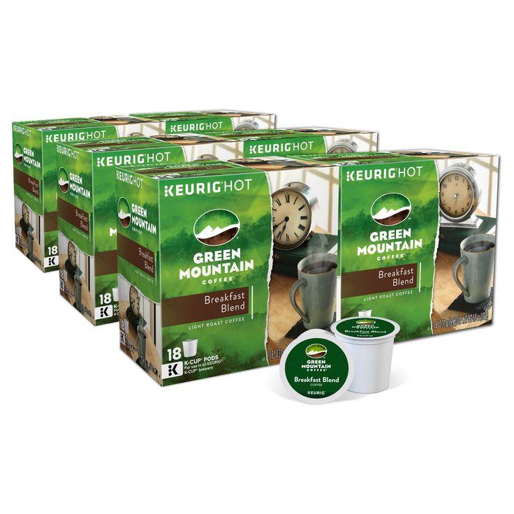 Green Mountain Coffee Breakfast Blend Light Roast Coffee - K-Cup Pods - 108ct