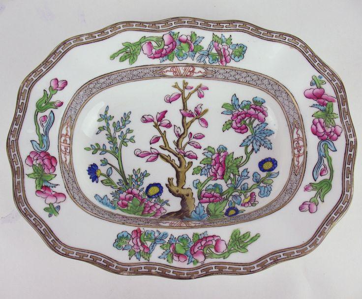 Oval Serving Bowl Coalport Indian Tree Vintage England Multicolor  | eBay