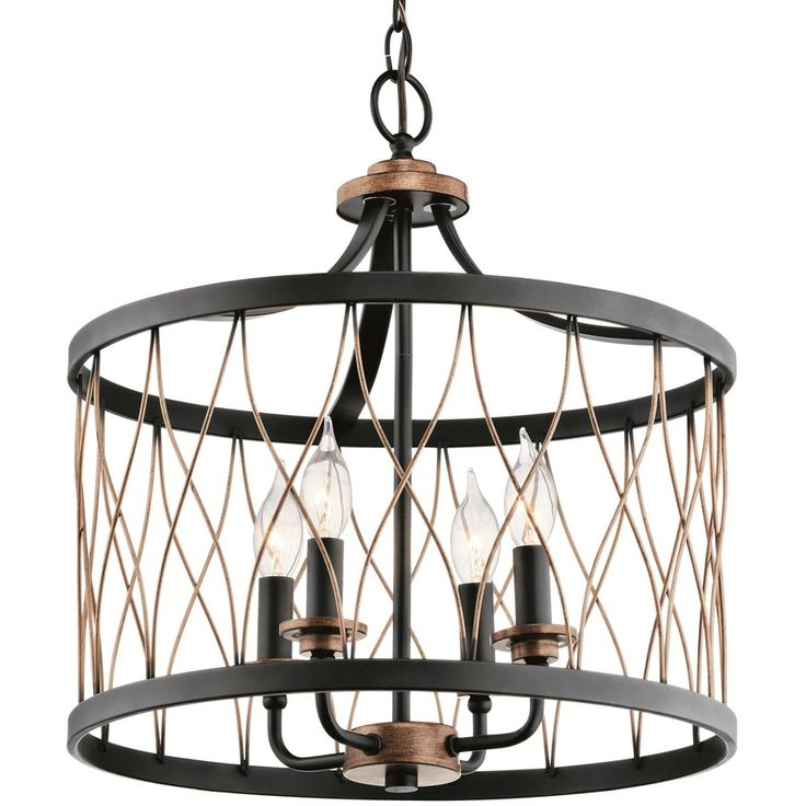 country cottage lighting ideas. Kichler Lighting Brookglen Black With Gold Tone Country Cottage Single Cage Pendant Item # 757782 Model 34780 Ideas D
