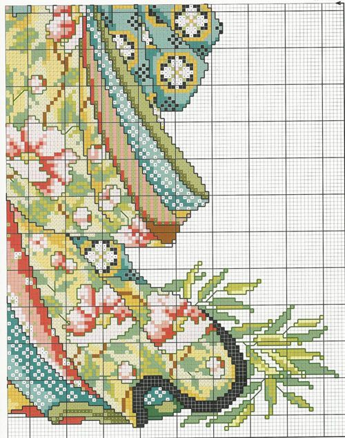 Schema punto croce Geisha-4