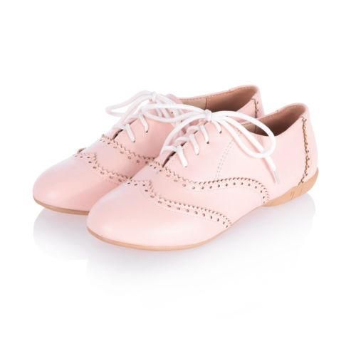 Vintage-Womens-Retro-Oxford-Brogues-Flat-Lace-Up-Round-Toe-Girls-College-Shoes