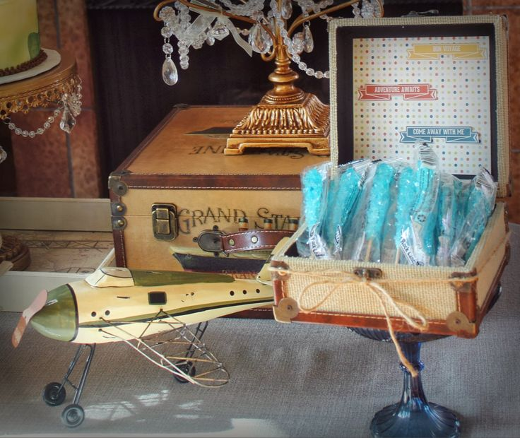 Travel Airplane Themed Baby Shower Party.