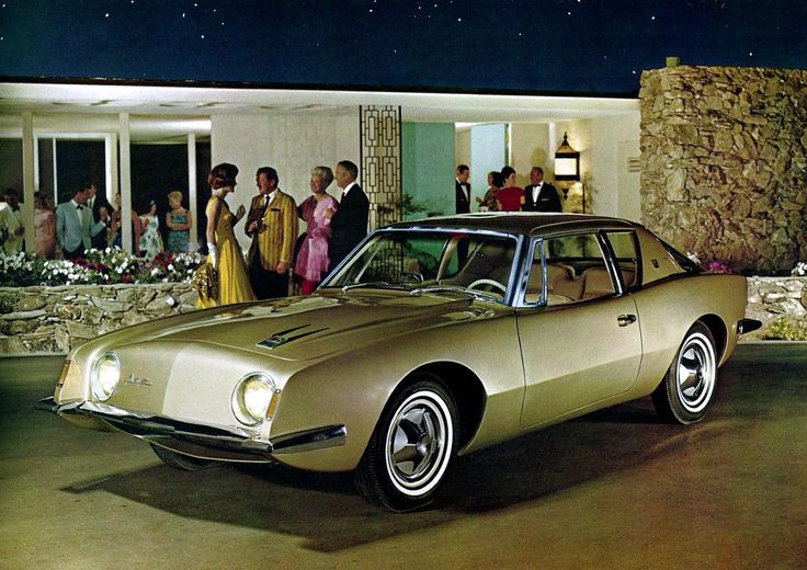 1962 Studebaker Avanti, Raymond Loewy. First American Production Car To  Offer Disc Brakes.