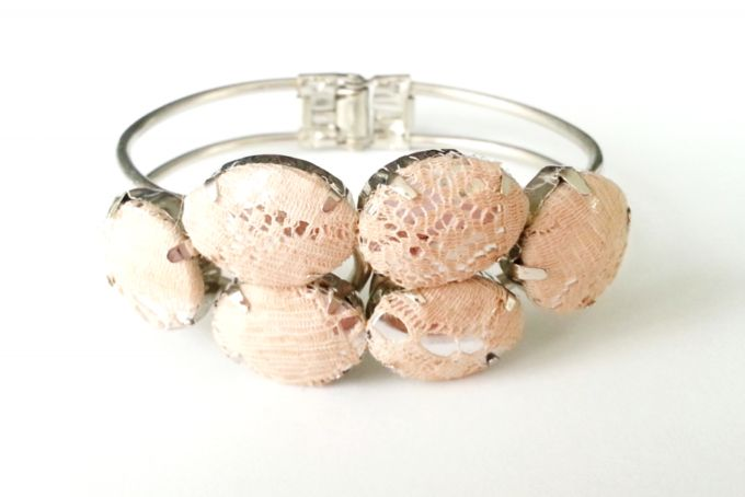 Blush Lace Cuff by Jewels and Lace