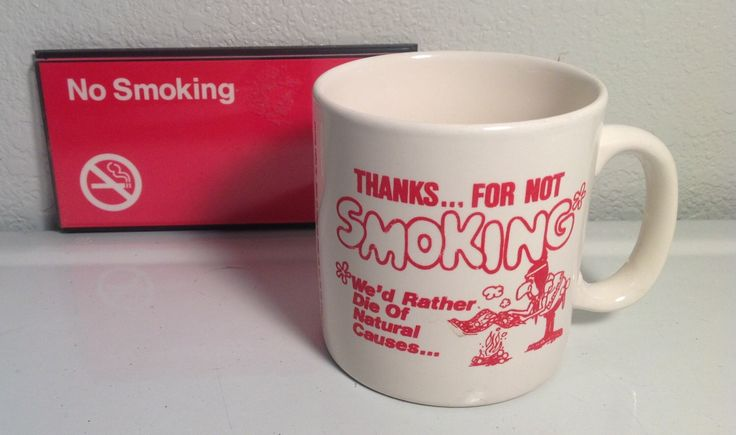 Vintage No Smoking Cup No Smoking Sign by VintagePickin on Etsy https://www.etsy.com/listing/193150512/vintage-no-smoking-cup-no-smoking-sign