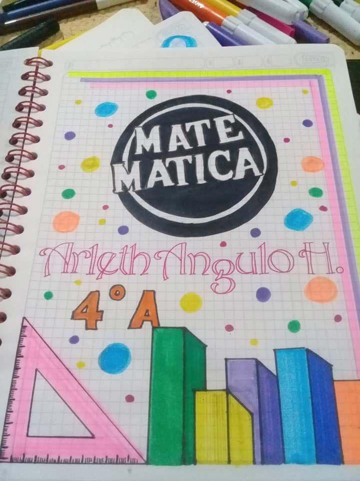 57 Caratulas Para Cuadernos De Matematicas Faciles De Dibujar Foros Ecuador Bullet Journal Lettering Ideas Cover Pages Lettering