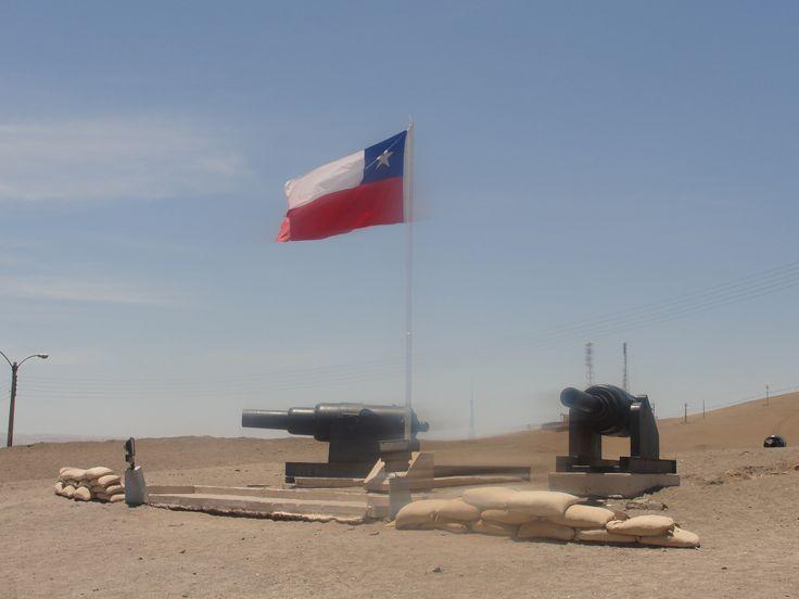Lugar donde fue izado el pabellón patrio una vez tomado el morro de Arica.