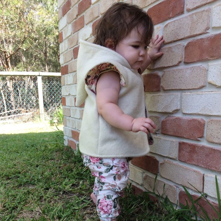 Adeline wearing a size 1. She is 14 months old