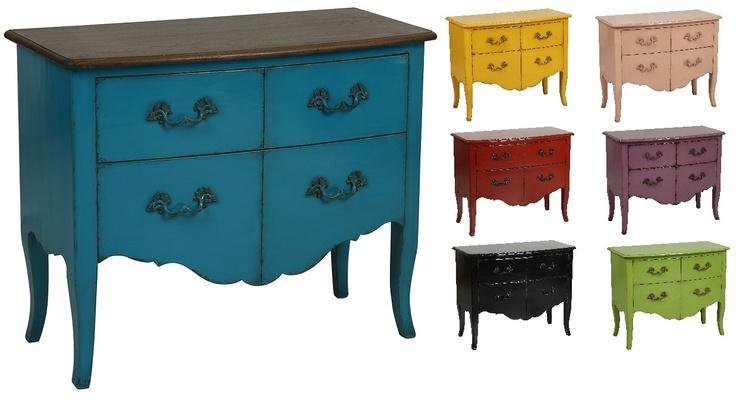 Commode 4 tiroirs en différentes couleurs - Collection Florentin - Copyright Interior's France