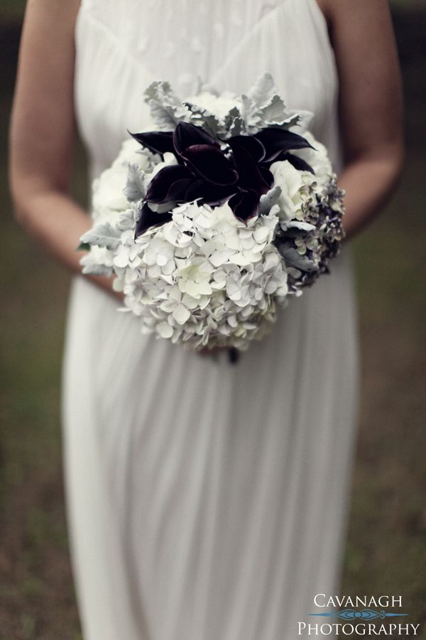 Hydrangea & Purple Calla Lily bouquet. Image: Cavanagh Photography http://cavanaghphotography.com.au