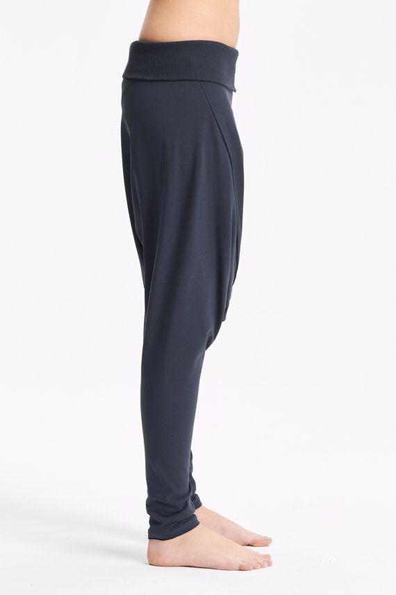 Gedämpfte blaue Tropfen Crotch Hose / Shalwar-inspirierte