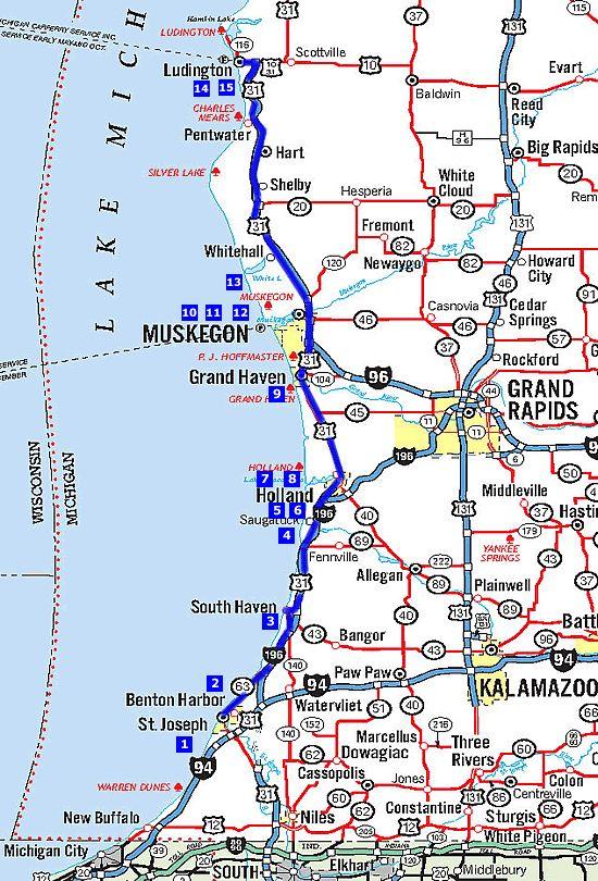 Southwest Michigans Historic Harbortowns Map Saugatuck Boat - Map of michigan cities