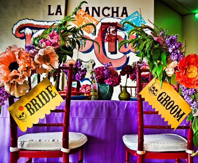 fiesta wedding reception