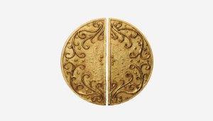 Paire de poignées demi-lune Trianon U16L GM gold