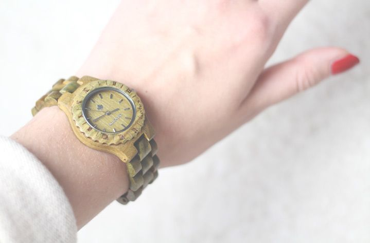 WoodWatch Lotus green