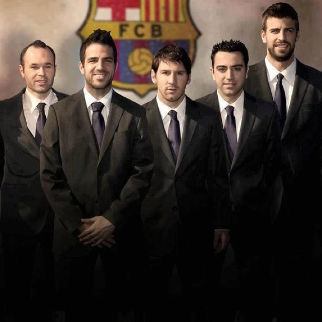 Barcelona futbols players