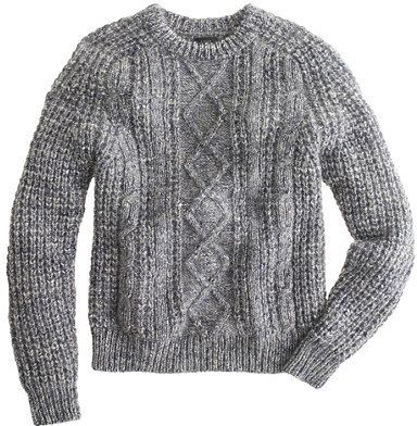 Italian wool-alpaca cable sweater #MenStyle #MensFashion #Style #MensWear #MensGrooming #WetShaving #Shaving #TailorandBarber http://www.tailorandbarber.com