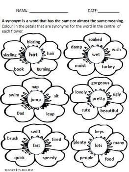 Synonyms Workshop