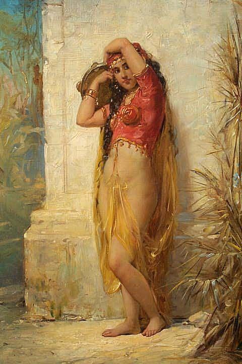 Harem Girl with Tambourine by Joseph Bernard