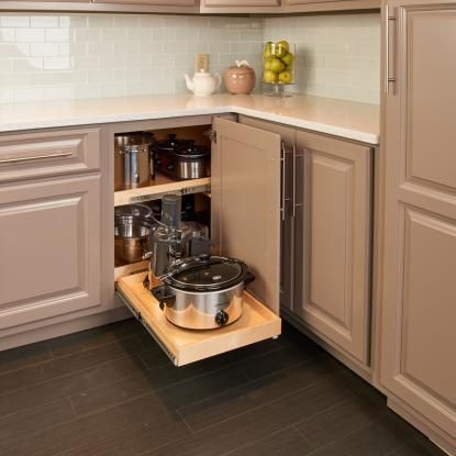 Kitchen storage by annkenkel 33 home decor ideas to for Blind corner kitchen cabinet ideas