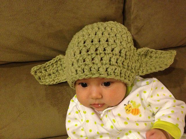 Free Crochet Pattern For Baby Yoda Hat : Ravelry: Warm Yoda baby hat pattern by Krupskaja Bump ...